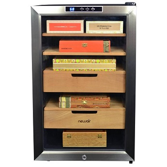NewAir 400 Count Cigar Humidor Climate Controlled with Opti Temp front 1024x1024