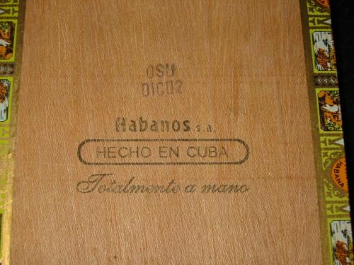 Romeo y Julieta Robusto EL, Partagas factory, December 2002